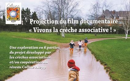 Projection officielle du film documentaire «Vivons la crèche associative!»